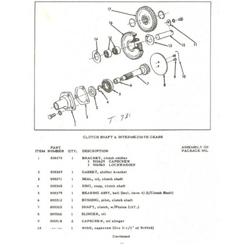 Allis Chalmers Model G Parts Manual