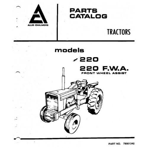 Allis Chalmers 220 220 Fwa Parts Manual