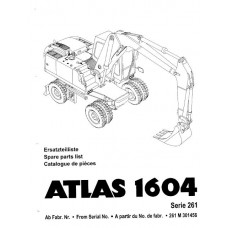 Atlas 1604 Serie 261 Parts Manual - 2