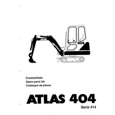 Atlas 404 Serie 414 Parts Manual