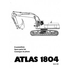 Atlas 1804 R Serie 283 Parts Manual