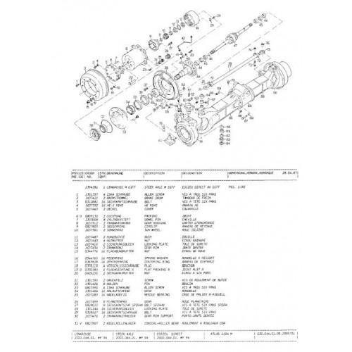 A B X on John Deere 170 Parts Diagram