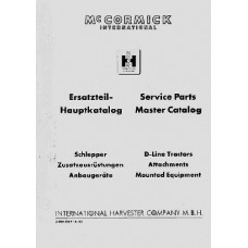 Mc Cormick International D-Series Parts Manual Master Catalog
