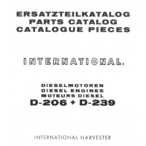 international d 206 d 239 diesel engine parts manual