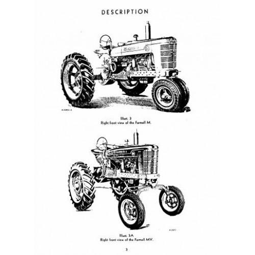 farmall m mv international harvester operators manual rh tractorboek com farmall m operator's manual pdf Farmall Super M