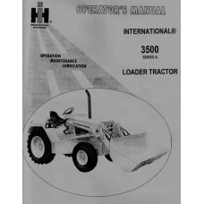 International 3500 Operators Manual