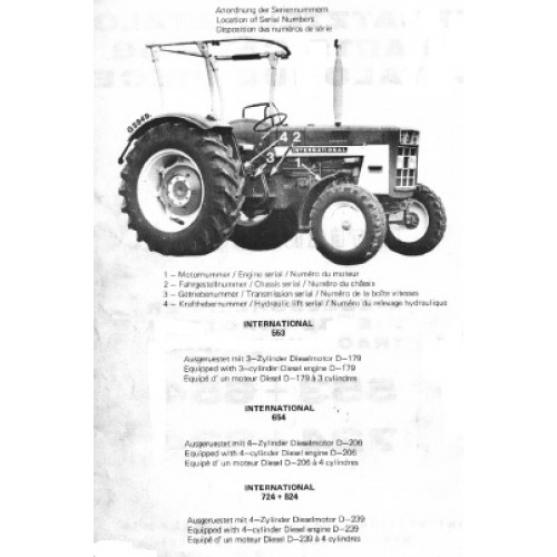 mc cormick international 553 654 724 824 parts manual rh tractorboek com McCormick International 10 Grain Drill McCormick Tractor Parts