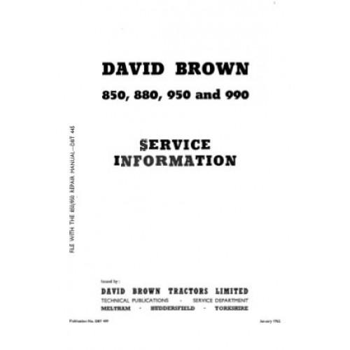 david brown 880 serial number