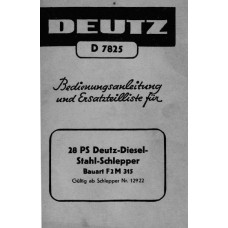 Deutz F2M315 Operators Manual
