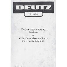 Deutz F1L514 / 50 Operators Manual