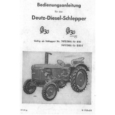 Deutz D30 - D30S Operators Manual