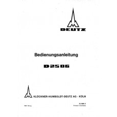 Deutz D2506 Operators Manual
