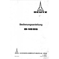 Deutz D4006 Operators Manual