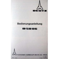Deutz D5006 Operators Manual