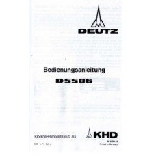 Deutz D5506 Operators Manual
