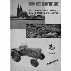 Deutz D25.2 Operators Manual