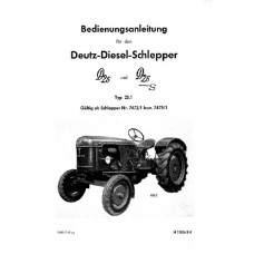 Deutz D25 - D25S type D25.1 Operators Manual