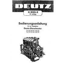 Deutz Diesel Engine F4L514 -  A4L514 - F6L514 - A6L514 Operators Manual