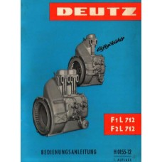 Deutz Diesel Engine F1L712 F2L712 Operators Manual