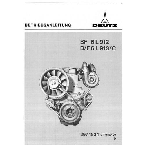deutz diesel engine bf6l912 f6l913 bf6l913 c operators manual rh tractorboek com Deutz Engine Repair Manual Aux Deutz 3 Cylinder Engines