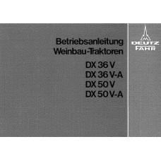 Deutz DX36 V VA - DX50 V VA Operators Manual
