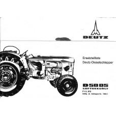 Deutz D5005 Parts Manual