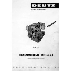 Deutz F3L712 Diesel Engine Parts Manual