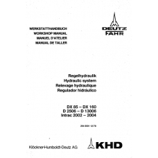 Deutz D-06 - Intrac - DX Serie hydraulic system Workshop Manual
