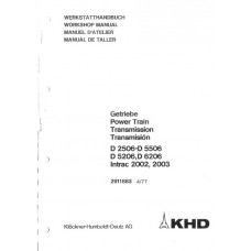 Deutz D-06 Serie - Intrac Power Train Workshop Manual