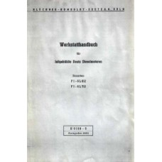 Deutz Diesel Engine 612 - 712 Serie FL612 - FL712 Workshop Manual