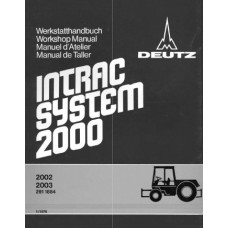 Deutz Intrac 2002 - Intrac 2003 Chassis Workshop Manual