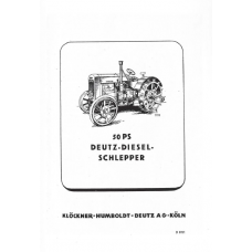 Deutz F3M417 Diesel Schlepper Workshop Manual