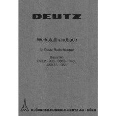 Deutz D25.2 - D30 - D30S - D40L - D50.1S - D55 Workshop Manual