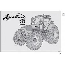 Deutz Fahr Agrotron 210 - 235 - 265 Operating Manual