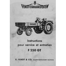 Fendt F250GT Operators Manual
