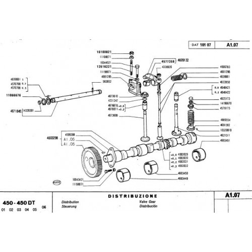 fiat 450 450dt parts manual rh tractorboek com fiat 450 tractor service manual Fiat Tractor Italy