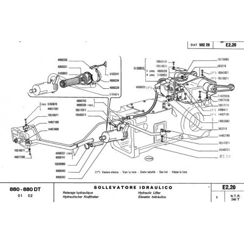 Fiat 880 880DT Parts Manual on the new ford atlas