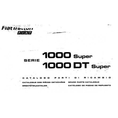 fiat 1000 super 1000dt super parts manual rh tractorboek com 1000 Car Fiat Fiat 2000