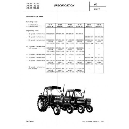 fiat 55 90 60 90 70 90 80 90 90 90 100 90 workshop manual rh tractorboek com manuale d'officina fiat 80 90 fiat 80 90 service manual