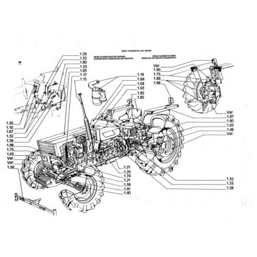 Fiat 500 Tractor Transmission Parts : Fiat  dt parts manual