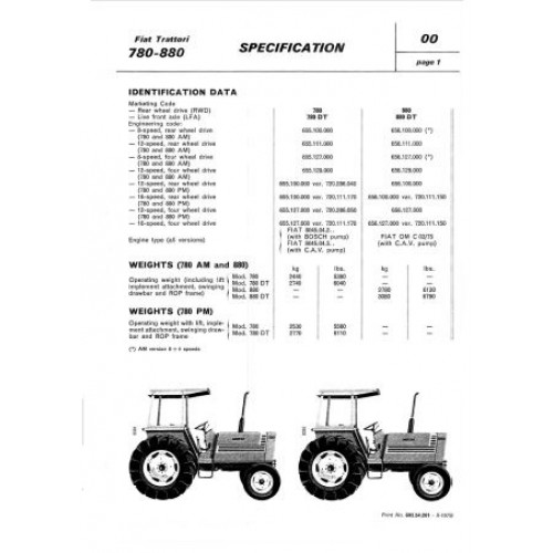 fiat 780 780dt 880 880dt workshop manual rh tractorboek com New Holland Tractors Fiat Tractor 1 32