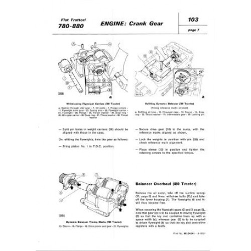 fiat 780 780dt 880 880dt workshop manual rh tractorboek com New Holland Tractors manual tractor fiat 780 pdf