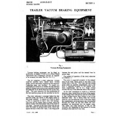 Fordson Major - Power Major Electric System and ​Brakes Workshop Manual Supplement