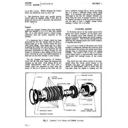 fordson major power major electric system and brakes workshop rh tractorboek com fordson super major workshop manual download fordson major workshop manual