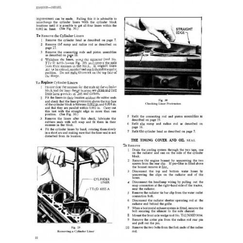 Fordson Major Diesel Tractor Repair Manual