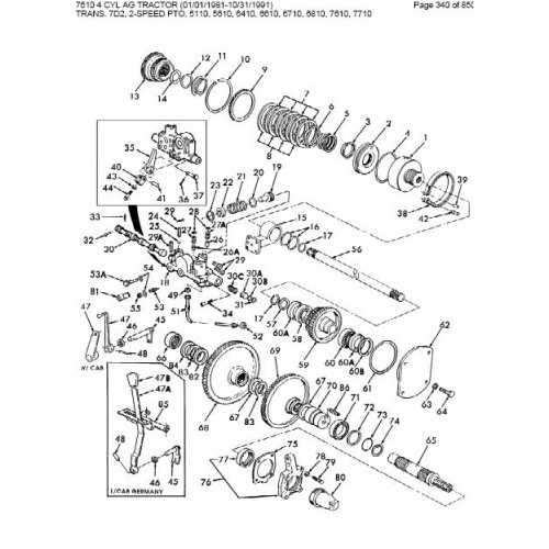 ford 7610 parts manual rh tractorboek com 7710 Ford Tractor tractor ford 7610 manual