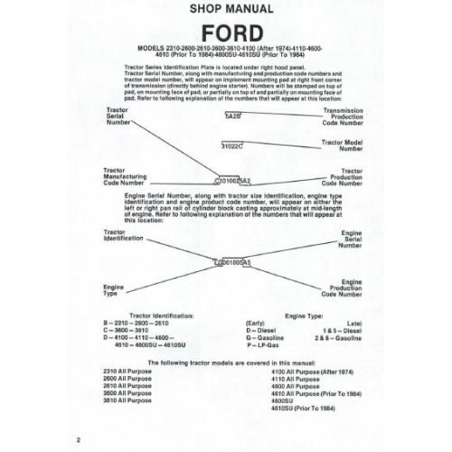 [SCHEMATICS_48EU]  Ford 2310 - 2600 - 2610 - 3600 - 3610 - 4100 - 4110 - 4600 - 4610 - 4600SU  - 4610SU Workshop Manual | Ford 4610su Tractor Alternator Wiring Diagram |  | Tractorboek