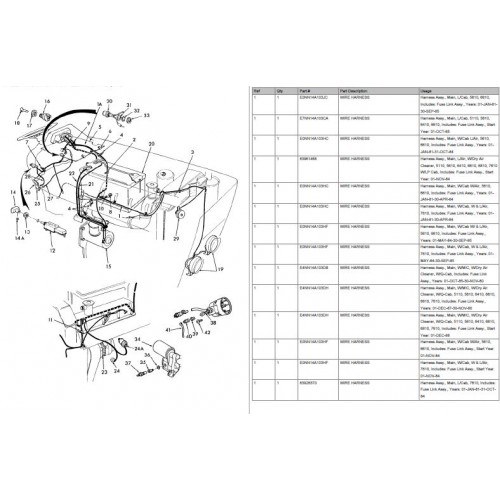 New Holland Ford 7610 Parts Manual
