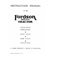 Fordson Major Operators Manual edition 1951