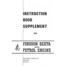 Fordson Dexta Operating Manual Supplement